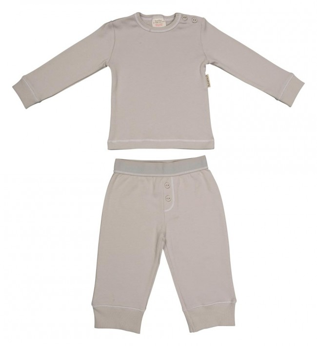 weicher pyjama tommy f r kleinkinder in silver grey. Black Bedroom Furniture Sets. Home Design Ideas