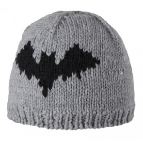 Cool Bat Beanie in Heather Grey