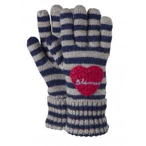 "Handschuhe ""Fay"" in Stripy Navy"