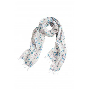 Scarf in Off-White with Bubbles