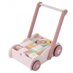 Holz Lauflernwagen in Adventure Pink