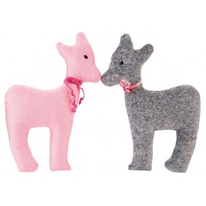 Lovely Pink & Grey Deer Rattle