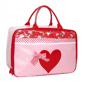 Coole Weekend Bag in rosa & rot