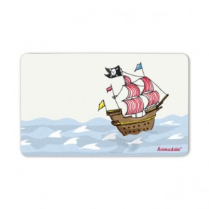 Breakfast Plate with Pirate Ship