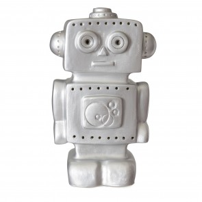 Roboter Lampe in Silber