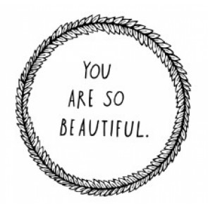 'You are so beautiful' Wandsticker in Schwarz