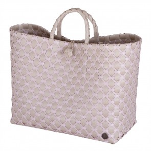 Lima Shopper in Pale Grey mit Nude Muster
