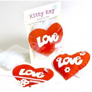 Make & Sew Felt Heart Kit