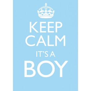 Keep Calm It's a Boy Karte