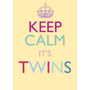 Keep Calm It's Twins Karte