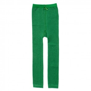 Glänzende Leggings in Classic Green