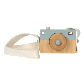 Holz Kamera in Adventure Blau