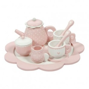 Holz Tee Set in Pink