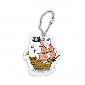 Cute Tag with Pirate Ship