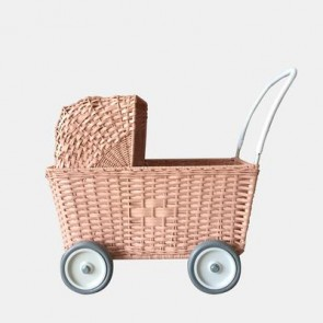 Puppenkinderwagen 'Strolley' in Rose