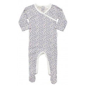 Girls Growsuit with Blue Floral Pattern