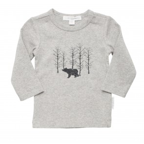 Boys Long Sleeve Top with a Bear Print