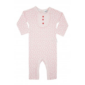 Girls Growsuit with Berry floral Print