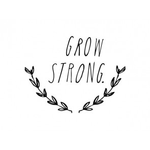 'Grow Strong' Wandsticker in Schwarz