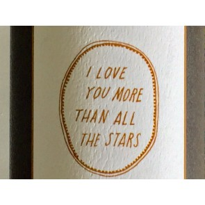 'I love you more than all the stars' Wandsticker in Gold