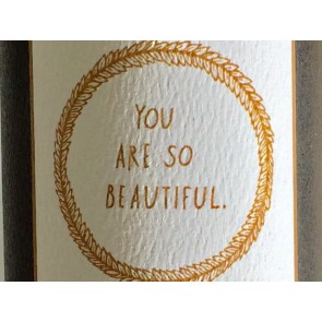 'You are so beautiful' Wandsticker in Gold
