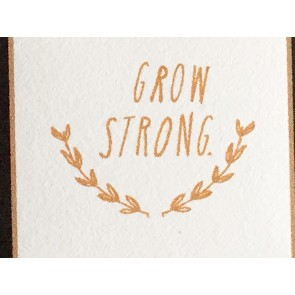 'Grow Strong' Wandsticker in Gold