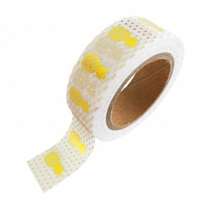 Washi Tape Gold Folie mit Ananas