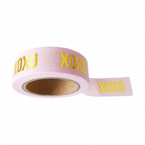 Washi Tape Pink 'XOXO'