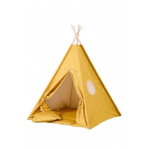 Tipi Set in Honey Mustard