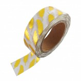 Washi Tape Gold Folie mit Federn